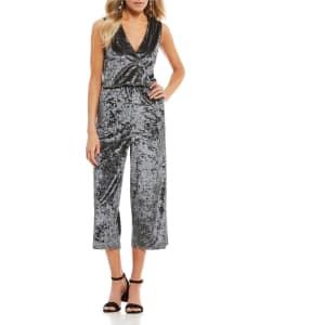 0929cd8e8eb Coco + Jaimeson Velvet Culotte Jumpsuit from Dillard s.