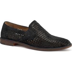 Trask Ali Perf Metallic Suede Block Heel Loafers