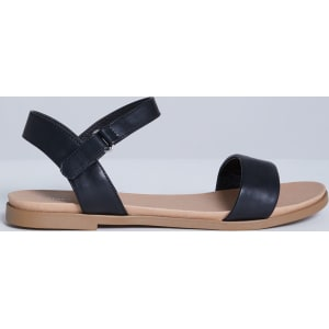 800224ce6 Lane Bryant Women s Two-Strap Flat Sandal 12w Pitch Black from Lane Bryant.
