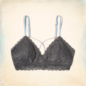 2ccacf7e06 Strappy Triangle Bralette With Removable Pads from Hollister Co..