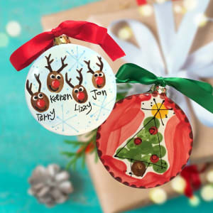 Happy Handprints: Finger Print Ornaments