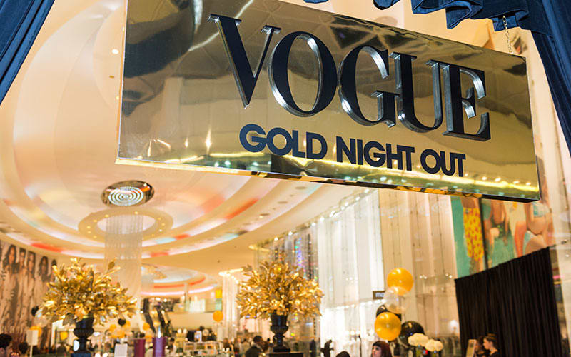 Vogue Gold Night Out at Westfield