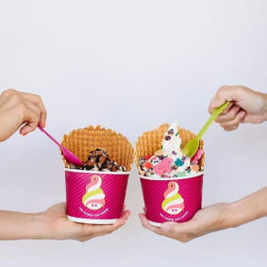 Waffle Wednesday at Menchie's