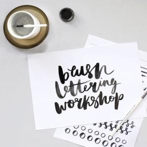 Brush Lettering Workshop