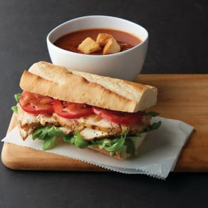 $7.49 Choose Two: Half Sandwich – Half Panini – Cafe Salad – Cafe Pasta – Cup of Soup