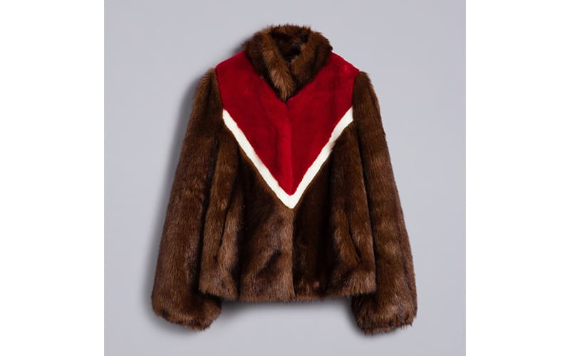 Brown Faux Fur Jacket With Inlays, £227.90 Twinset, Westfield London