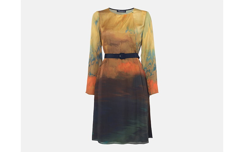 Westfield London Aquascutum Cadel Belted Printed Dress, £350