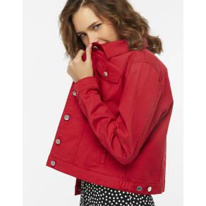 Rachel Red Denim Jacket