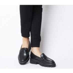 Office Ferocious Chunky Cleated Loafer BLACK LEATHER