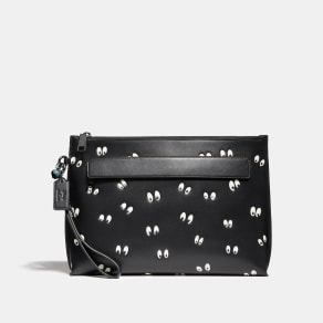 Coach Disney X Carryall Pouch With Spooky Eyes Print