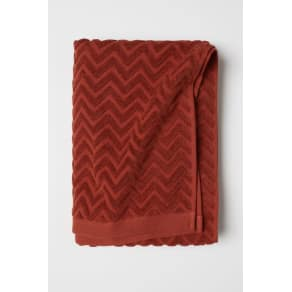 H & M - Jacquard-patterned bath towel - Orange