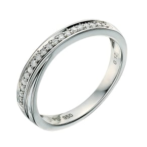Palladium 950 12 Point diamond crossover ring
