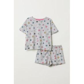 H & M - Pyjama top and shorts - Grey