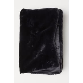 H & M - Faux fur blanket - Black