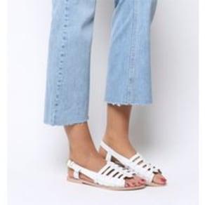Office Saviour-  Vintage Sandal WHITE LEATHER