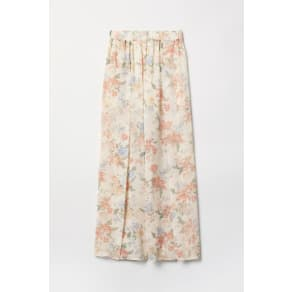 H & M - Wide trousers with slits - White
