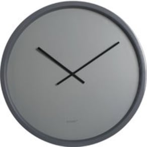 Large round face clock grey