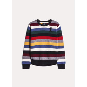 Striped lambswool-blend sweater