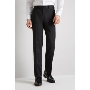 Moss Esq. Regular Fit Machine Washable Charcoal Trousers