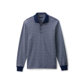 d55b675710d Jeff Banks - Grey Space Marl Long Sleeve Rugby Shirt. £19.20 · Lands'  End - Blue Feeder Stripe Supima Rugby Shirt