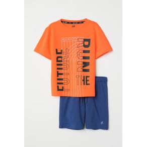 H & M - Sports top and shorts - Orange