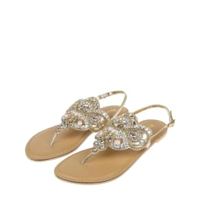 Multi Gem Embellished Sandals