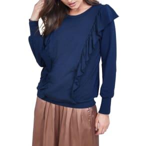 Women's Allette Amelie Ruffle Nursing Sweater, Size Small - Blue