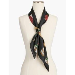 Talbots: Holiday Ornament Silk Scarf