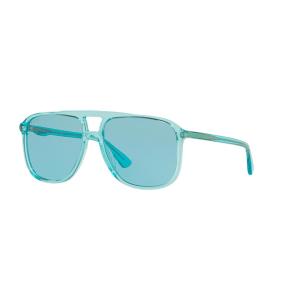 043357c5e16 Gucci Gg0262s 58 Blue Square Sunglasses. Sunglass Hut