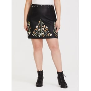 Star Wars Solo Black Faux Leather Mini Skirt