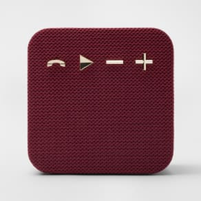 heyday Square Portable Bluetooth Speaker - Maroon/Gold (Red/Gold)