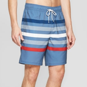 001f770736 Men's 8 Striped Long Volley Board Shorts - Goodfellow & Co. Target
