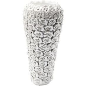 Rose ceramic vase large white pearl