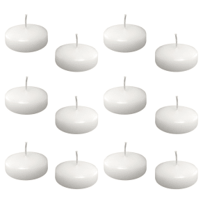 12ct Floating Candles White Large