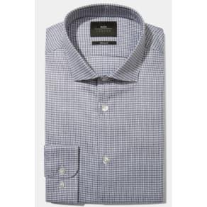 f58b4762747 Moss London Skinny Fit Blue Single Cuff Jaspe Houndstooth Shirt