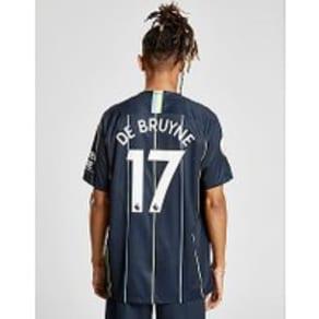Nike Manchester City 2018/19 De Bruyne #17 Away Shirt - Navy - Mens