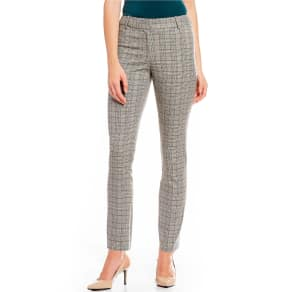 Calvin Klein Plaid Straight Ankle Pants