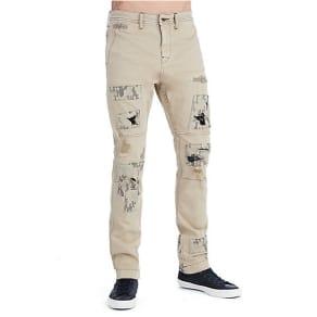 Men's Camo Patch Logan Slim Pant | Honey Taupe | Size 32 | True Religion