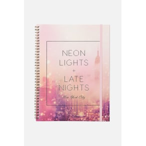 Typo - A4 Spinout Notebook - 120 Pages - Neon lights