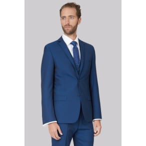 Ted Baker Tailored Fit Teal Mohair Look Jacket