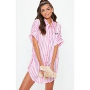 fefa3adb53fa Pink Candy Stripe Oversized Nightshirt, Pink. Missguided