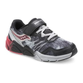 Saucony Flash A/C Sneaker Black/Grey/Red, Size 11 M Kids Shoes