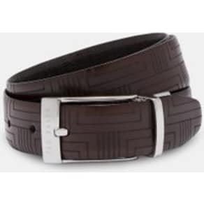 Embossed Reversible Leather Belt