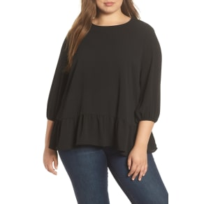 caf43f6d7190a Plus Size Women  039 s  amp  .layered Cutout Back Peplum Top