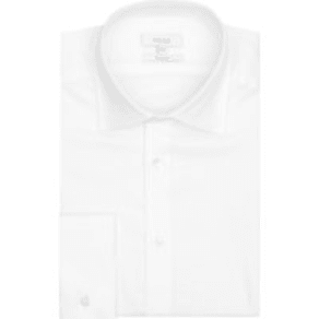 Reiss Farrow - Double Cuff Slim Fit Shirt in White, Mens, Size S