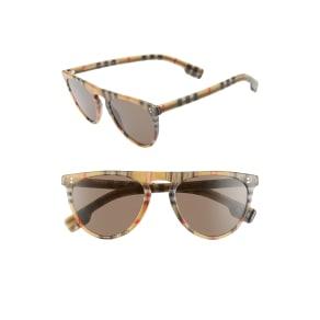 Women's Burberry 54Mm Sunglasses - Dark Brown/vint Check Solid