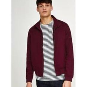 Mens Red Burgundy Harrington Jacket, Red