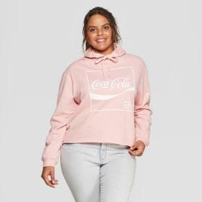 Women's Plus Size Coca-Cola Hoodie - Freeze Pink 1X