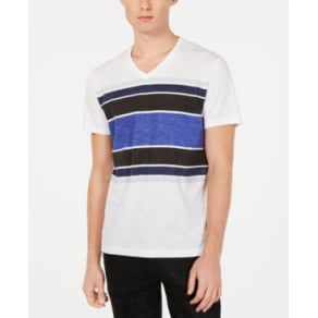 I.n.c. Men's Stripe V-Neck T-Shirt, Created for Macy's