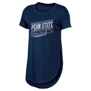 NCAA Women's Free Spirit Crew Neck Tunic Bi-Blend T-Shirt Penn State Nittany Lions - XL, Multicolored